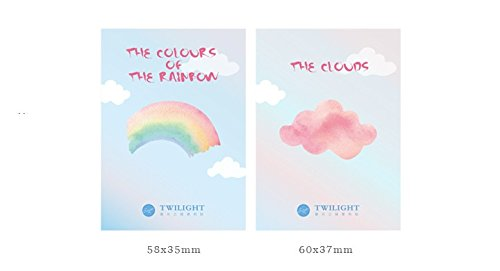 MONNY 36 pcs/Lot Rainbow cloud memo pad Color sticky notes Decorative Diary sticker Stationery Office accessories School supplies 6692