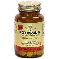 Solgar de potassium des acides aminés comprimés complexes, 250 comte