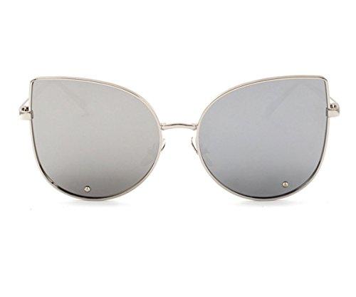 Heartisan Simple Full Mirror Cat Eye Anti-UV Sunglasses for Womens C3 (Sunglasses Kitesurf)