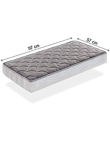 SLEEPAA Colchón para cuna de 120x60 cm FIBRA DE COCO natural y MUELLES Transpirable Antiácaros Hipoalergénico