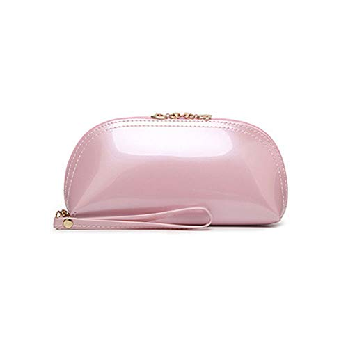 - Patent Leather Casual Multifunction Purse Coin Purse Handbag Cosmetic Bag Hot (color - Light pink)