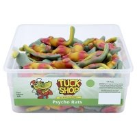 British Retro Sweets Tuck Shop Psycho Rats 120 Pieces (Jelly Rat)
