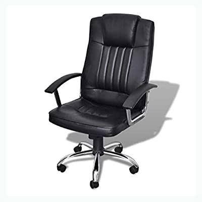 K&A Company Luxury Office Chair Height Adjustable Swivel Seat Black