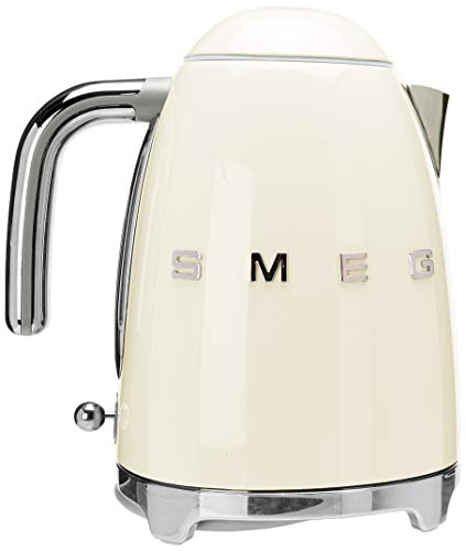 Smeg KLF03CRUS 50's Retro Style Aesthetic Electric Kettle with Embossed Logo