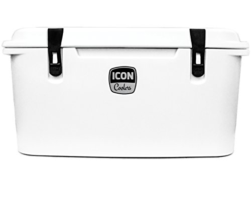 ICON Coolers 75 - Premium Cooler - Made in the USA - Outdoor, Camping, Fishing Roto-Molded Cooler (Bonefish (Molded Icon)