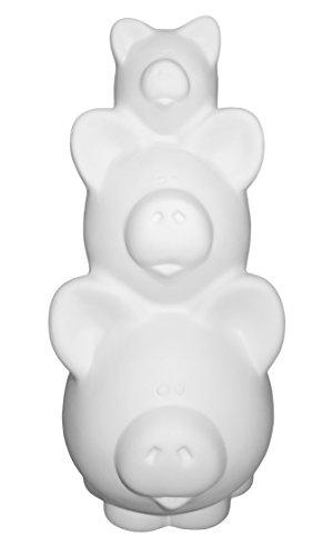 Super Piggy Bank Pig Stack - Paint Your Own Ceramic Keepsake