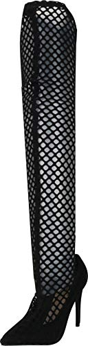 Cambridge Select Women's Pointed Toe Caged Laser Cutout