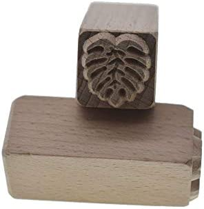 grastop 葉 手彫り ウッド スタンプ 印刷 DIY クレイ 陶器 印刷 ブロック クレイ ツール 用