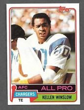 San Diego Chargers 10 Card Collection - 10 Different 1981 Topps Football Cards - includes stars, rookies, Hall of Famers including Dan Fouts, Kellen Winslow rookie card!!