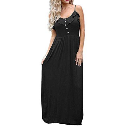 VEMOW Elegante Damen Maxi Kleid Halter OAusschnitt beiläufiges ...