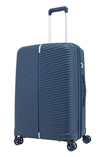 Samsonite Varro Spinner Unisex Medium Blue Polypropylene Luggage Bag TSA Approved GE6071002