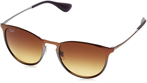 Ray-Ban Metal Unisex Sunglasses - Shot Brown Metallic Frame Brown Gradient Lenses 54mm - Ban Ray 0rb3539
