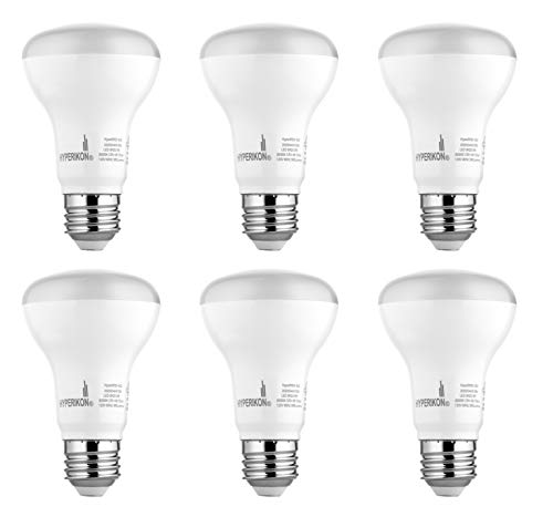 Hyperikon BR20 LED Bulb Dimmable, 8W (50W Equivalent), 3000K (Soft White Glow), CRI 90+, Wide Flood Light Bulb, Medium Base (E26), UL & Energy Star - Great for Kitchen, Family Room, Bathroom (6 Pack)