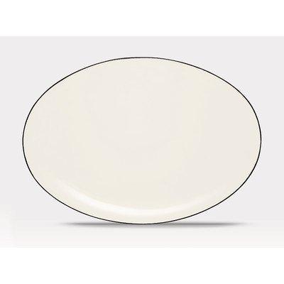 Noritake 16-Inch Colorwave Oval Platter, Graphite (Stoneware Noritake Platter)