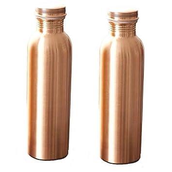 Ayurveda a prueba de fugas martillo para buena salud Divine 100/% Pure Certified cobre metal termo potable botella de agua 33.8oz etiqueta libre jarra