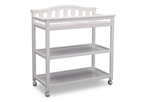 Delta Children Bell Top Changing Table with Casters, White by Delta Children (Image #1)