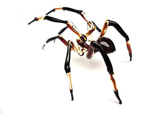 (Glass Spider Figurine Blown Glass Spider, Spider hallowee figurine glass insect Art Glass Spider blown glass figurine Spider glass insects lampwork Spider)