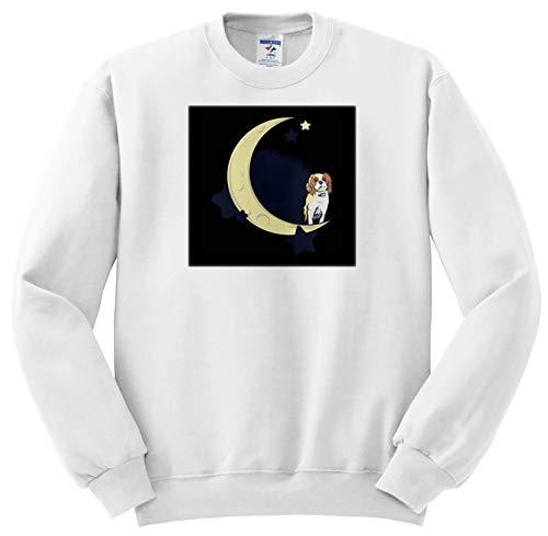 Sven Herkenrath Dogs - Cavalier King Charles Spaniel Dog with Moon and Stars - Sweatshirts - Youth Sweatshirt Large(14-16) ()