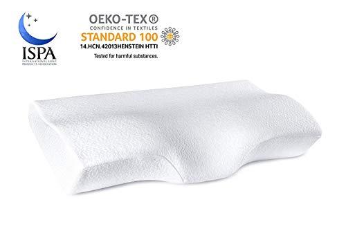 (YANXUAN Contour Memory Foam Pillow for Neck Pressure Relief, Cervical Pillow Ergonomic Neck Pillow with Washable Pillowcase, 23.6