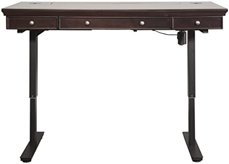 Martin Furniture Electric Fulton Sit Stand Desk, Brown