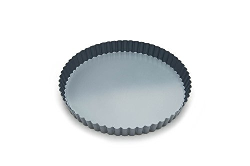 (Fox Run 44513 Round Loose Bottom Tart and Quiche Pan, 9
