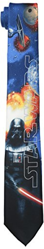 Star Wars Men's Darth Vader Poster Tie, Blue, One Size