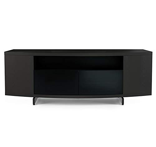BDI 8438 CRL Sweep TV Stand Media Console, Charcoal Stained Ash