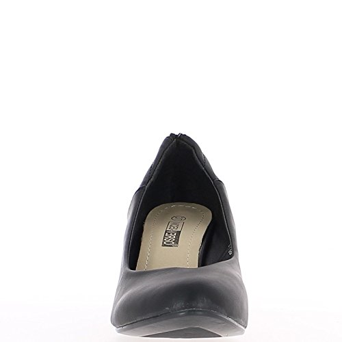 Offset nero a 6,5 cm con tacco alto zip decorativa