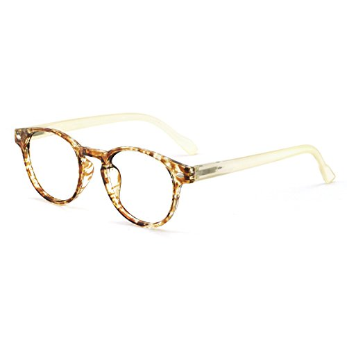 OCCI CHIARI Lightweight Designer Acetate frame Stylish Reading Glasses For Women (15006- Yellow, 0.0) ()