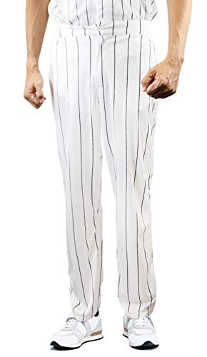 Furies Style Baseball Pinstripe Pants Only Bottoms (Large)]()
