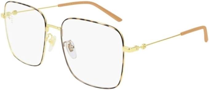 Gucci GG0445O-003 Estuches para anteojos, Dorado, 56.0 para Mujer: Amazon.es: Ropa y accesorios