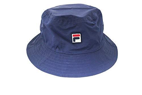 Fila Mens Heritage Nylon Bucket Hat (Navy)