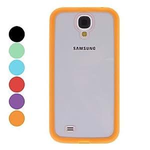 Caja dura transparente con estilo para Samsung Galaxy S4 i9500 (colores surtidos) ( Color : Negro )