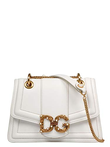 Dolce E Gabbana Women's Bb6676ak29580002 White Leather Shoulder Bag