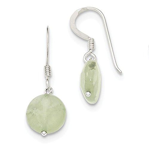 (925 Sterling Silver Prehnite Drop Dangle Chandelier Earrings Fine Jewelry Gifts For Women For Her)