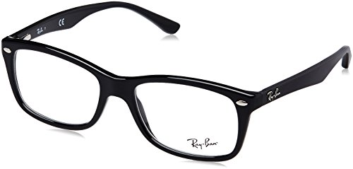 Ray-Ban Women's RX5228 SQuare Eyeglasses,Shiny Black,53 - Ray Amazon Frames Optical Ban
