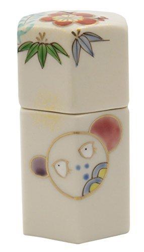 Marumon Kiyomizu Yaki Porcelain 1.6inch Toothpick holder by Watou.asia