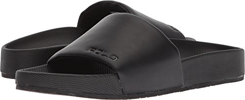 Polo Ralph Lauren Men's Cayson Slide Sandal, Black, 12 D US by Polo Ralph Lauren