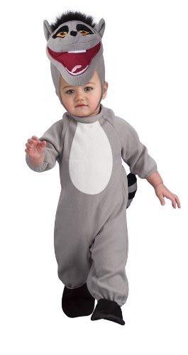 Lemur Costume Toddler (The Penguins Of Madagascar Romper And Headpiece King Julien, Julien Print, 6-12 Months)