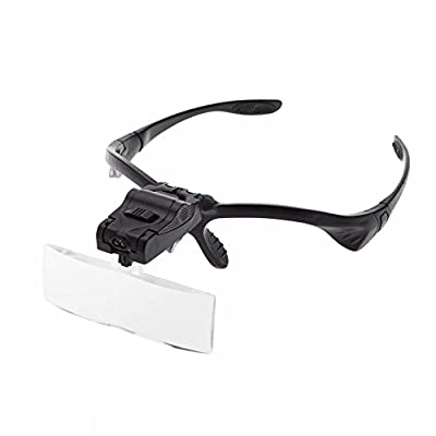 Carving - Glasses Magnifier 1 0x 5x 2 3 Adjustable Lens Led Illuminated Headband Bracket Magnifie Optical - Jewelry Chisel Gloves Veining Flex Set Stainless Tree Fantasy Stand