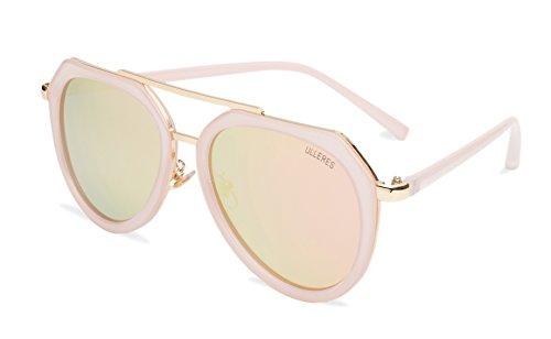 ULLERES Unisex Aviator UV Protection Polarized Sunglasses (Pink, - Sunglasses Uv Protection Highest