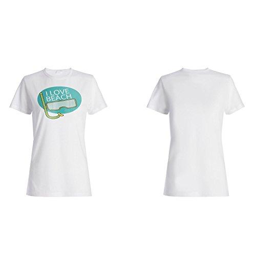 Ich liebe Strand neues lustiges Feiertagsgeschenk Damen T-shirt f640f