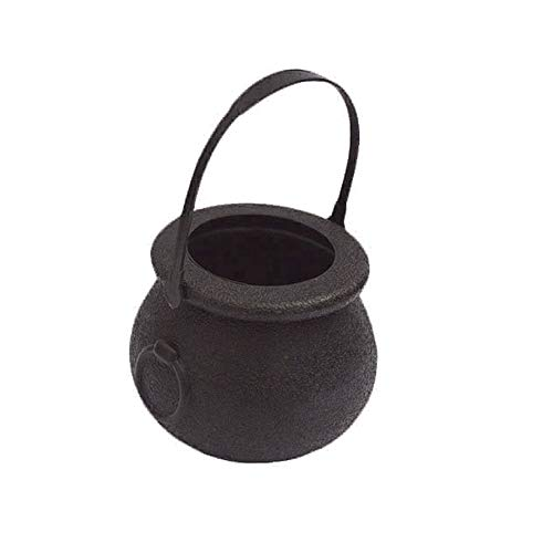 Party Diy Decorations - Halloween Black And White Plastic Candy Box Skull Cauldron Jar Gift Party Hanging Props Decoration - Bottle Bell Iron Skull Cauldron Pot Bank Witch Halloween Skeleton]()