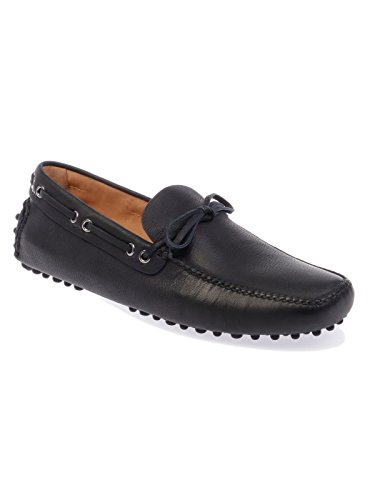 Car Shoe Men's 3AI0CAPRAANT4F0008 Blue Leather Loafers 3bCWCap