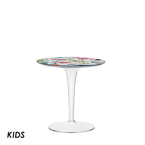 Price comparison product image Kartell TipTop Kids - transparent / dinosaur table (Original made in Italy)