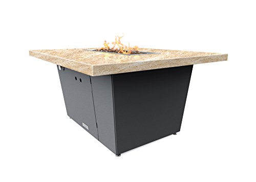 Cooke palisades rectangular fire pit table 52x36x1 5 for Table 52 petroleum