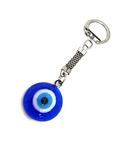 Silver Evil Eye Keychain (Evil Eye Silver Keychain)