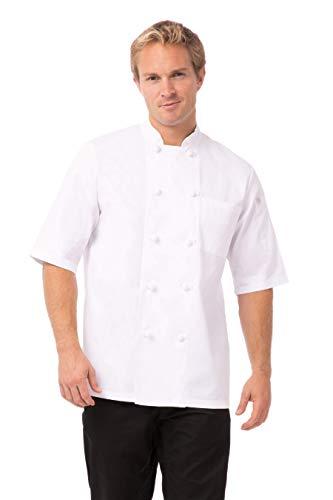 Chef obras b658-m Tivoli Unisex chaqueta de cocinero, tamaño mediano, color blanco