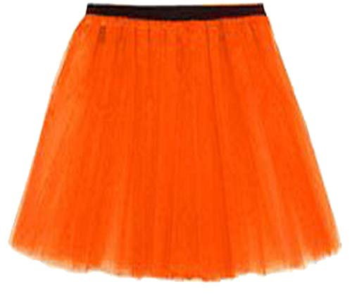 Orange Mini LIFE Noir Jupe LTD Taille Vif Femme Unique Jupe REAL FASHION Z1vqwanCnA