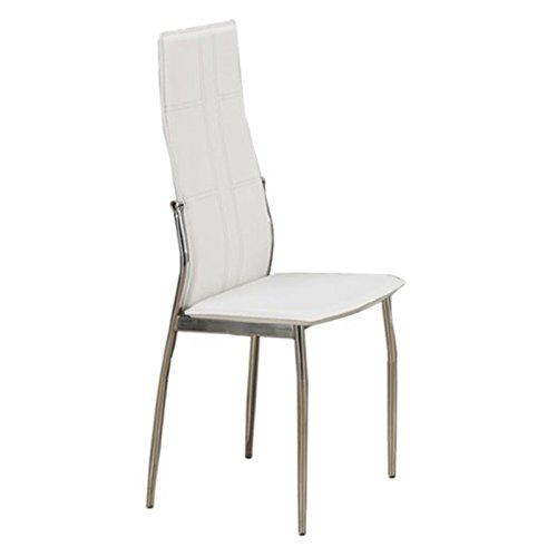 poundex-2-piece-contemporary-dining-chair-set-with-straight-lined-structure-upholstered-in-leather-w